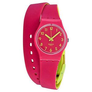 Jewelry - Pink Swatch Silicone Wrap Around Watch